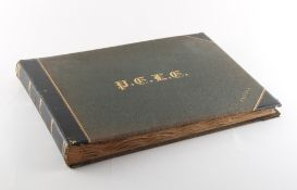 Property of a gentleman - a late 19th century photograph album containing silver gelatin prints of