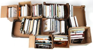 Ten boxes containing assorted antiques & fine art auction catalogues (10).