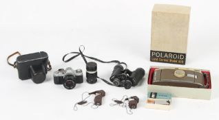 Property of a deceased estate - a small quantity of camera equipment including a Canon AV-1 35mm SLR
