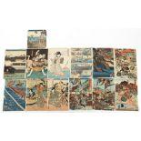 A collection of Japanese woodblock prints - Hiroshige Ando (1797-1858), Kuniyoshi Utagawa (1798-