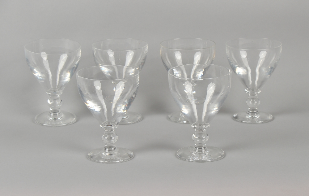 Property of a gentleman - a set of six glass rummers, each approximately 5.7ins. (14.5cms.) high (