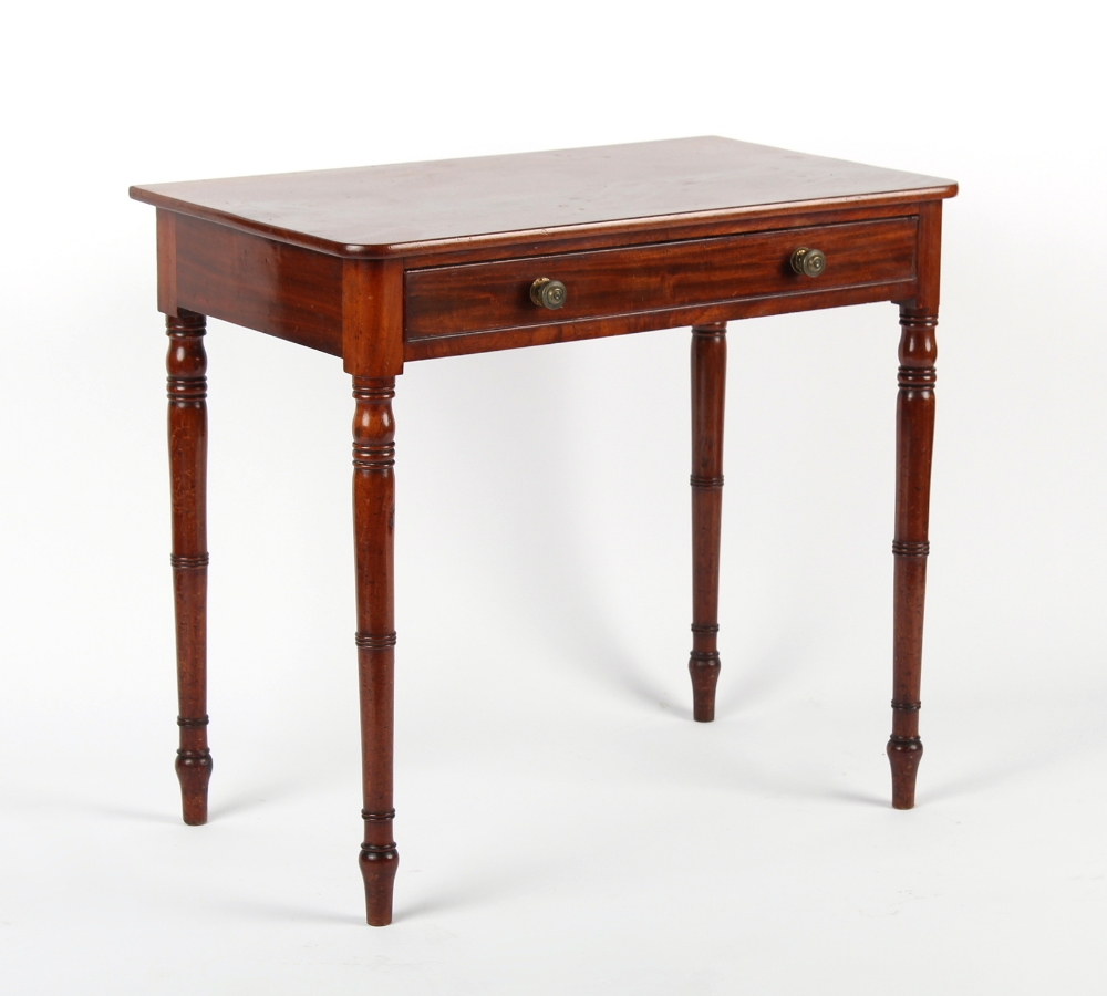 Property of a deceased estate - an early 19th century George IV mahogany side table with frieze
