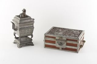 Property of a lady, a private collection formed in the 1980's and 1990's - a Chinese pewter censer