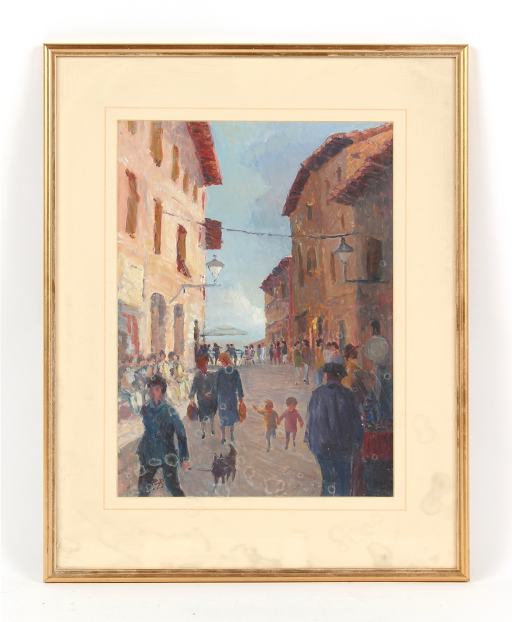 Property of a deceased estate - Roger Rigby (1922-2019) - 'PASSEGGIO IN CASOLE D'ELSA II' - oil on
