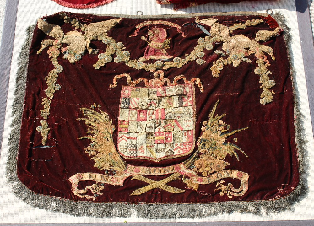 Property of a gentleman - a quantity of assorted velvet curtains and fragments, etc., including a - Image 2 of 2