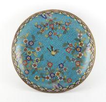 Property of a lady - a Chinese cloisonne circular shallow dish, Qianlong / Jiaqing period (1736-