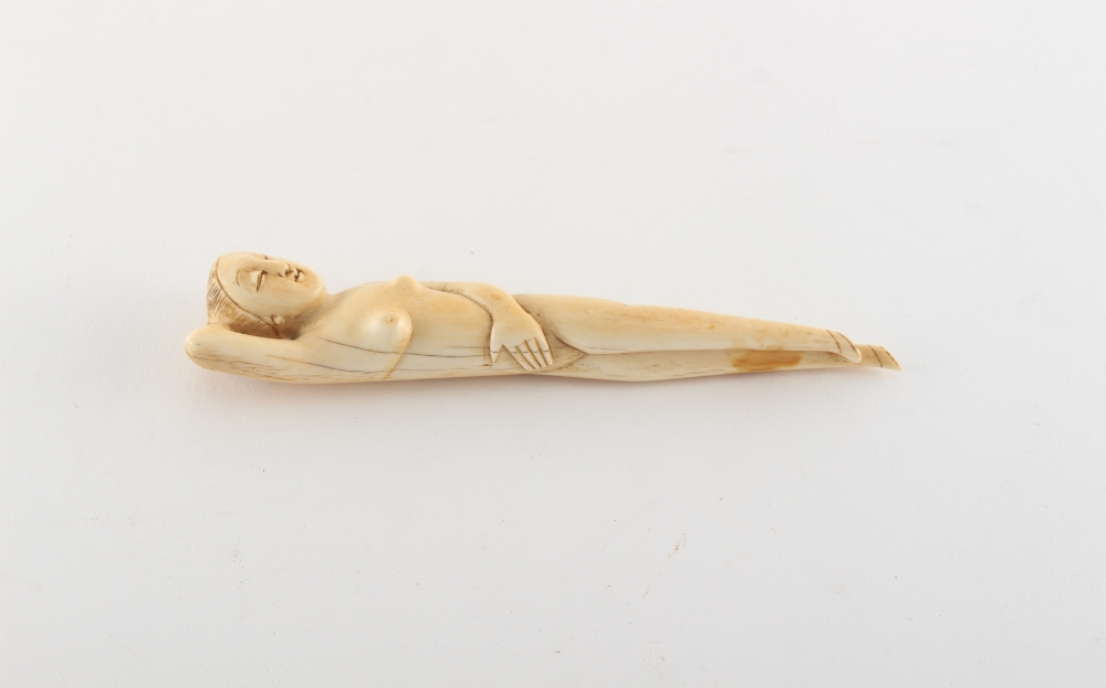 Property of a gentleman - a Chinese carved ivory doctor's model, late 19th / early 20th century, 5. - Image 2 of 2