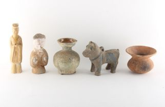 Property of a lady, a private collection formed in the 1980's and 1990's - a group of five Chinese