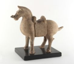 Property of a gentleman - a Chinese pottery model of a horse, Han Dynasty (206 BC - AD 220) or later