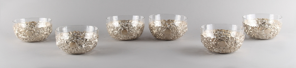 Property of a gentleman - a set of six late 19th/ early 20th century Chinese silver pierced bowls - Image 2 of 2