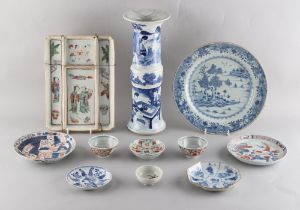 Property of a gentleman - a quantity of assorted Chinese ceramics, 18th century & later, including a