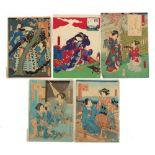 A collection of Japanese woodblock prints - Toyokuni III Utagawa (1786-1864) and Yoshitaki