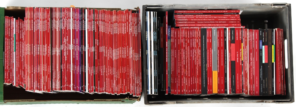 Property of a gentleman - a large quantity of auction catalogues, mostly Christie's, including house