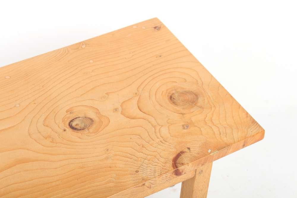 Property of a deceased estate - a solid birch rectangular topped coffee table, of pegged - Image 2 of 2
