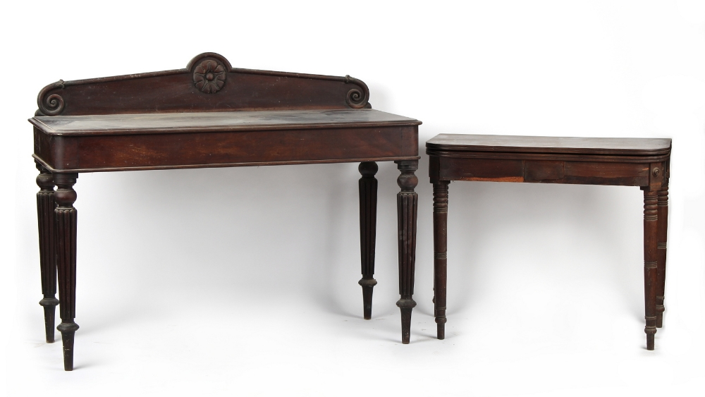 Property of a deceased estate - an early 19th century William IV mahogany serving table, 53.