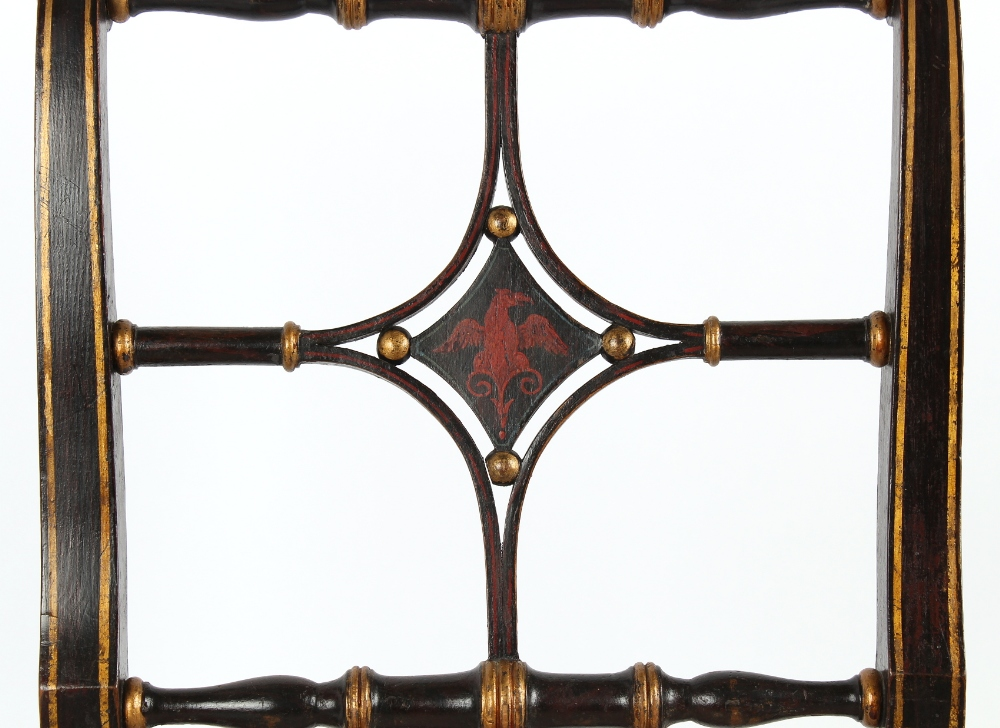 Property of a gentleman - a pair of early 19th century Regency period painted side chairs with - Image 2 of 2