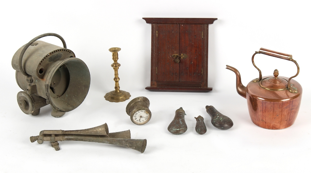 Property of a deceased estate - a box containing assorted items including a Phare Ducellier carriage