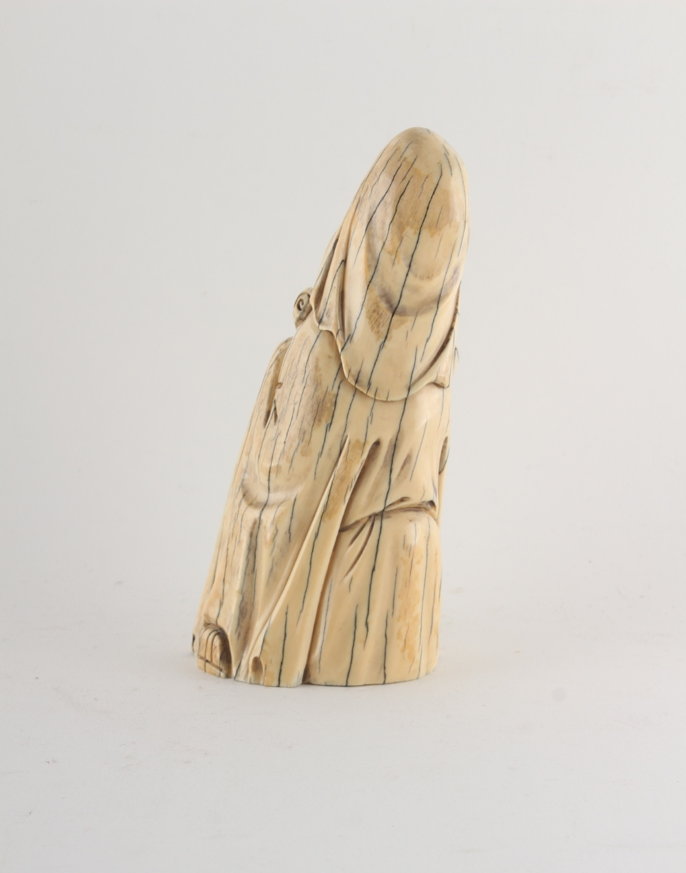 Property of a gentleman - a Chinese carved walrus ivory figure of a sage, early 20th century, - Image 2 of 3