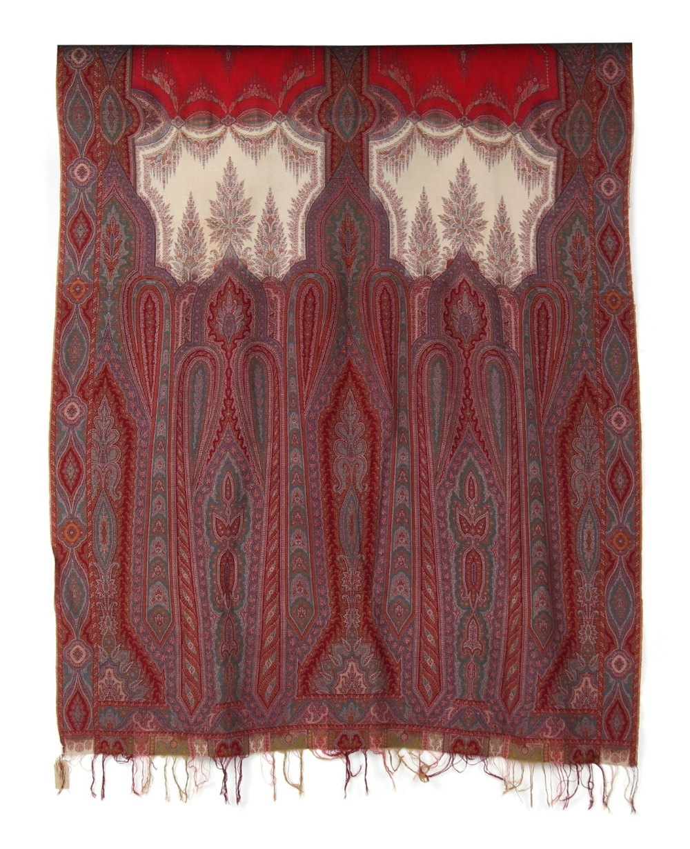 Property of a gentleman - a Paisley shawl, probably late 19th century, 126 by 60ins. (320 by