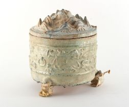 Property of a lady, a private collection formed in the 1980's and 1990's - a Chinese green glazed