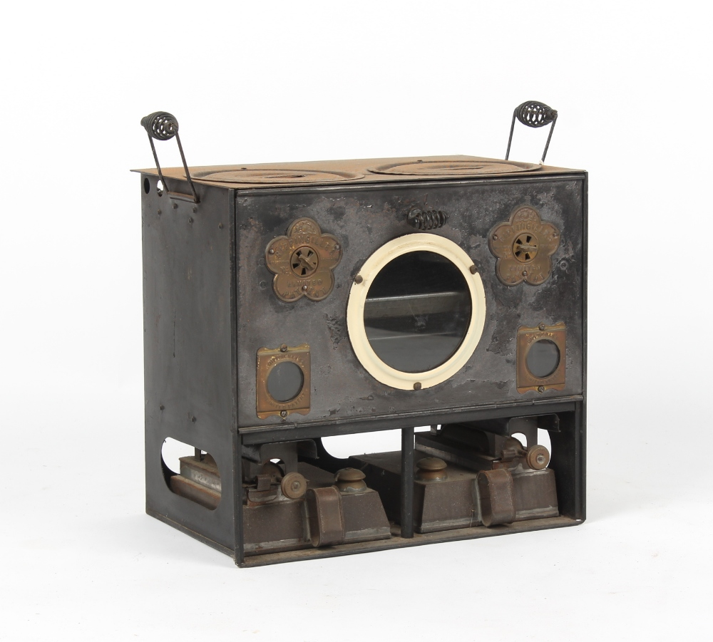 Property of a gentleman - a Rippingilles patent barge stove, model number 490.