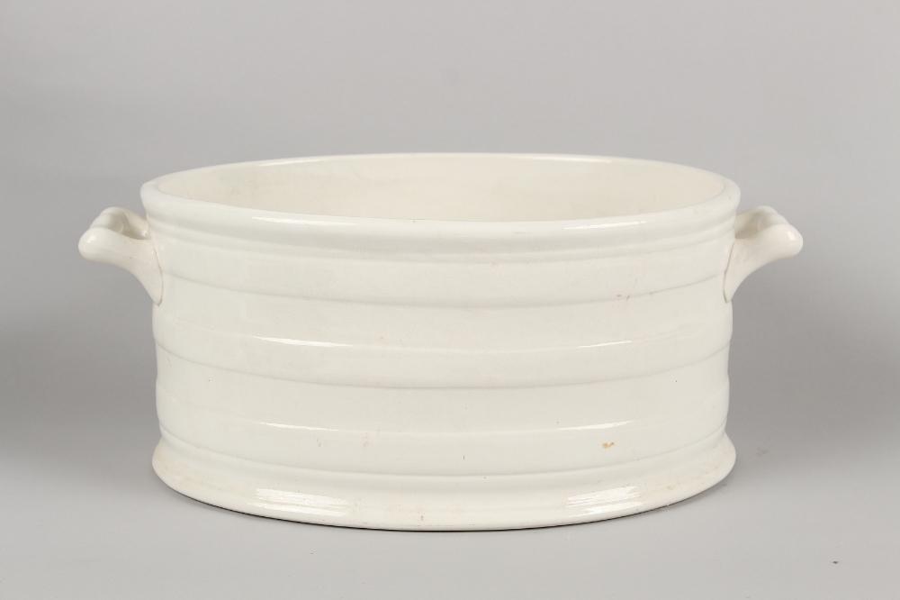 A late 19th / early 20th century Booth's Royal Semi-porcelain footbath, 20.85ins. (53cms.) across