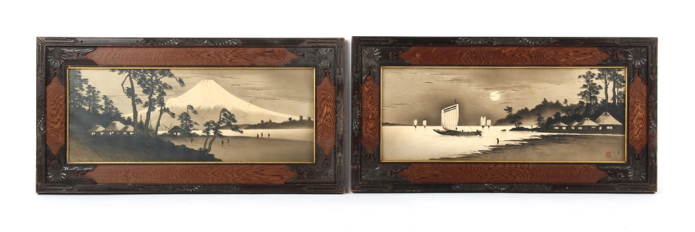 Property of a gentleman - Japanese school, late 19th / early 20th century - MOUNT FUJI and A LAKE