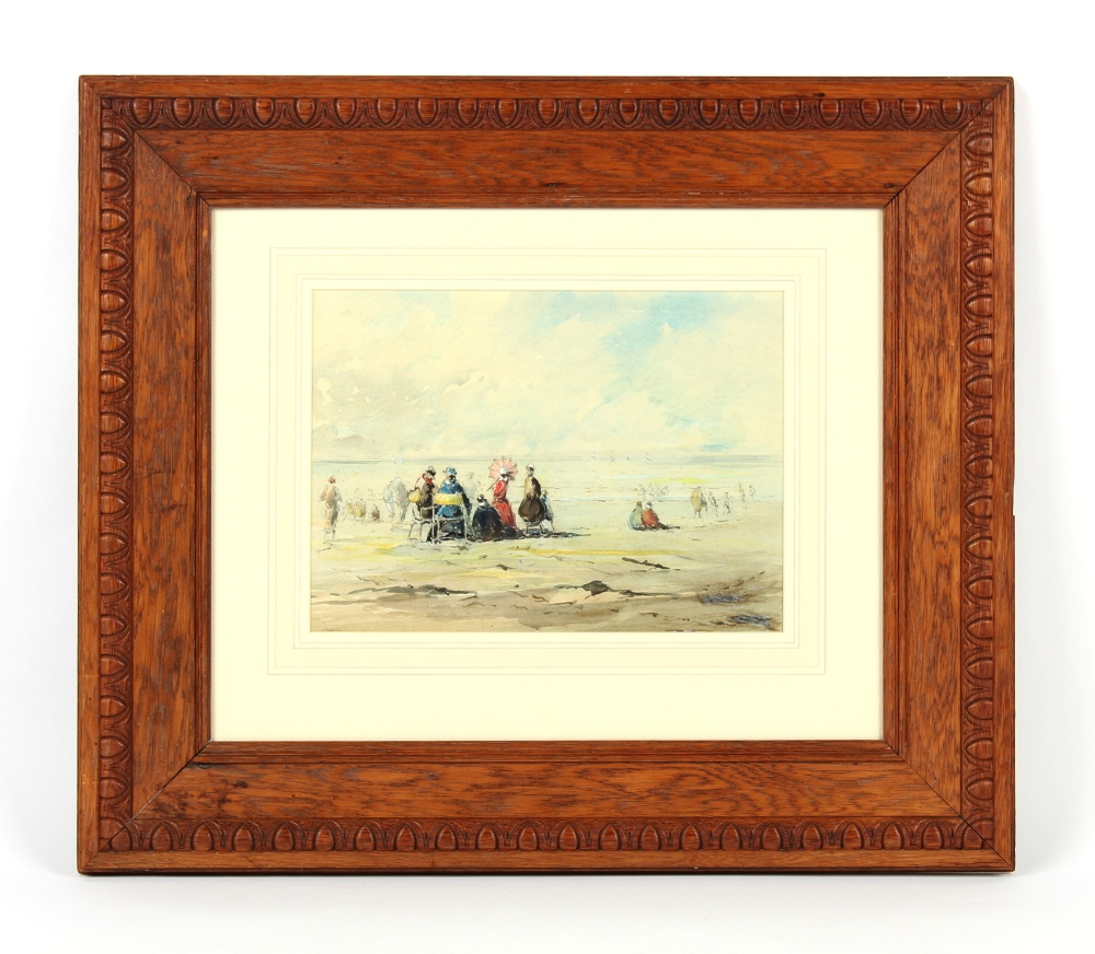 Property of a deceased estate - manner of Eugene Boudin - ELEGANT FIGURES ON A BEACH -