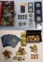 A quantity of assorted coins, including an 1893 crown (a lot).