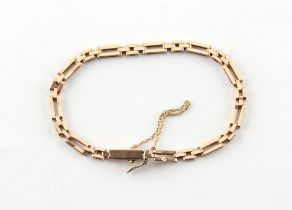 An Austrian 14ct gold link bracelet, approximately 8.7 grams.