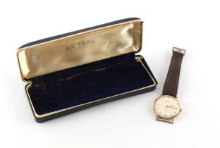 A gentleman's Rotary 9ct gold cased mechanical wristwatch, with subsidiary seconds, Birmingham 1965,