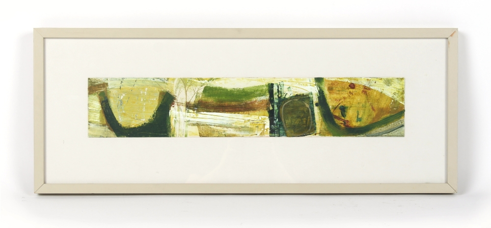 Peter Joyce (b.1964) - 'SHAFTESBURY DROVE' - acrylic on board, 4.55 by 24.2ins. (11.5 by 61.