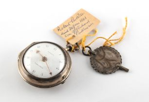 An early George III silver pair cased pocket watch, with verge escapement, engraved William Tash,