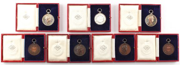 A group of seven Royal Academy of Music medals awarded to Constance Nicholls, 1933-1936, including