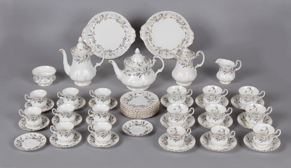 A Royal Albert bone china 'Brigadoon' pattern fifty-one piece tea & coffee set (51).