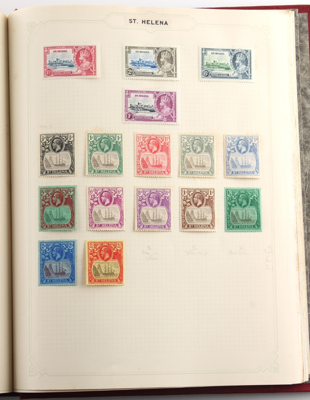 Stamps - British Empire: A collection in a spring-back album with 1935 Jubilee mint sets for most