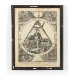 Property of a lady - Freemasons or masonic interest - 'KEEP WITHIN COMPASS' - a coloured