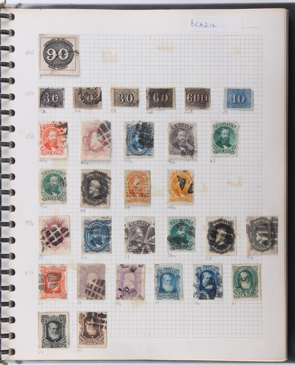 Stamps - Latin America: Four volumes of mainly used, including Columbia with range of early
