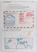 The Basil Lewis (1927-2019) collection of stamps - World: PanAm 1946-57 flights including FAM18