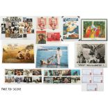 Property of a gentleman - a quantity of film posters, lobby cards, postcards & other ephemera (a