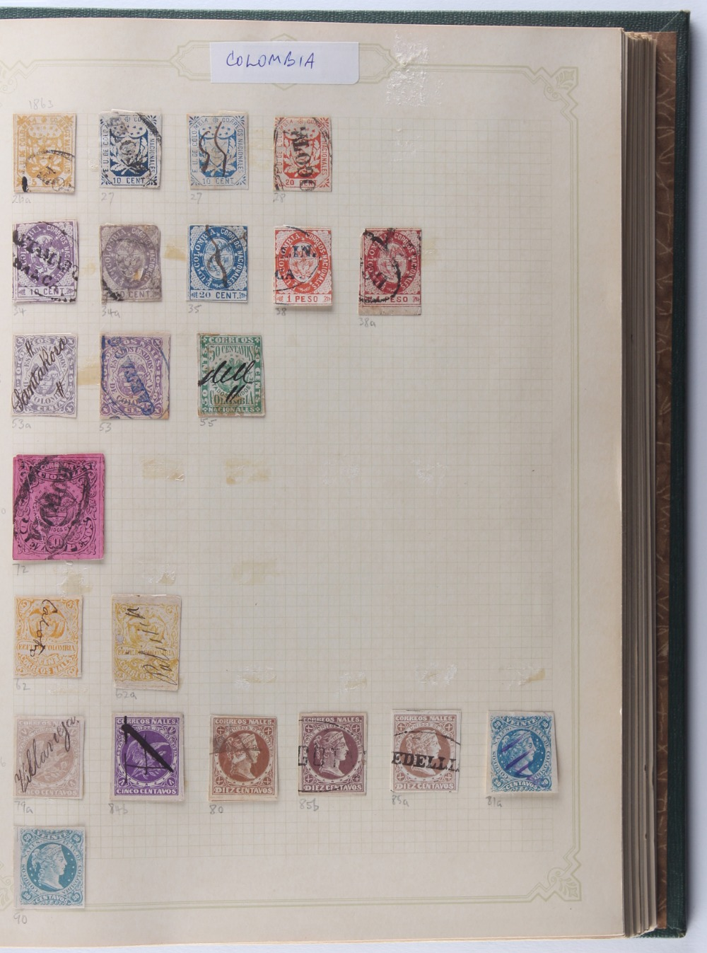 Stamps - Latin America: Four volumes of mainly used, including Columbia with range of early - Image 2 of 2