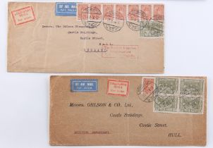 The Basil Lewis (1927-2019) collection of stamps - World: Airmail etiquettes - a collection of