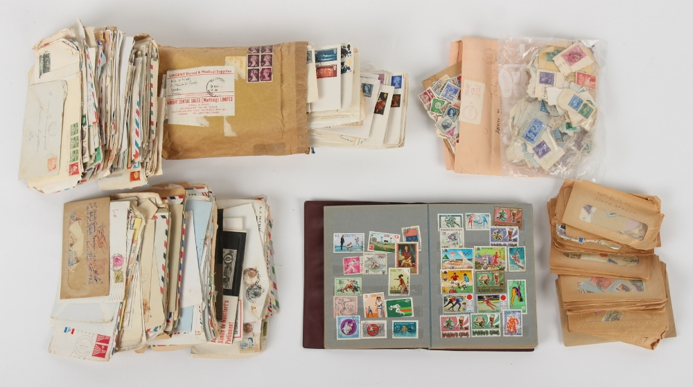 Stamps - World: a bag with various world covers, GB fdc's, stamps in packets, etc..