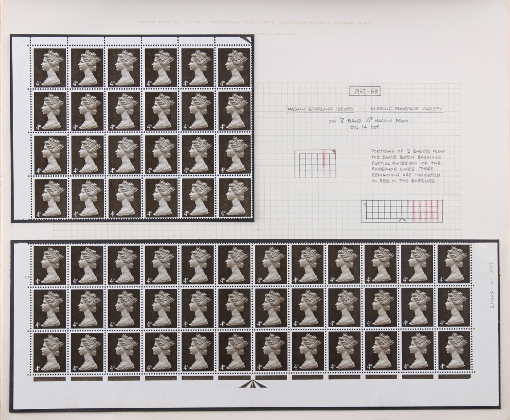 The Basil Lewis (1927-2019) collection of stamps - Great Britain: 1952-69 a mint collection in an