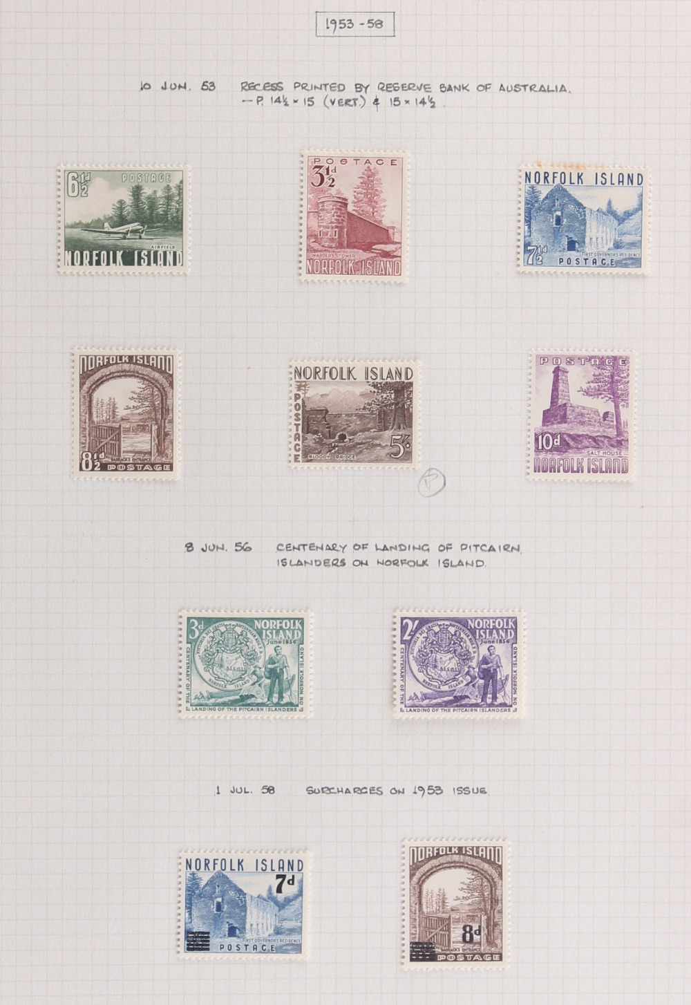 The Basil Lewis (1927-2019) collection of stamps - Norfolk Island: 1947-75 a mainly mint selection