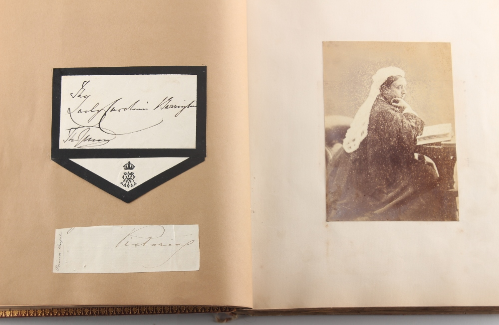 Stamps - World: the Victorian autograph and scrap album of Miss Emily Roberts, circa 1862-1897, with - Image 3 of 5