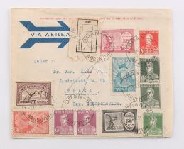 The Basil Lewis (1927-2019) collection of stamps - Argentina: A large box of covers including many