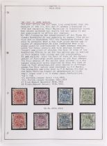 Stamps - Australia: In four albums and a stock book, mostly used with some states, 1931-36 'roo £1