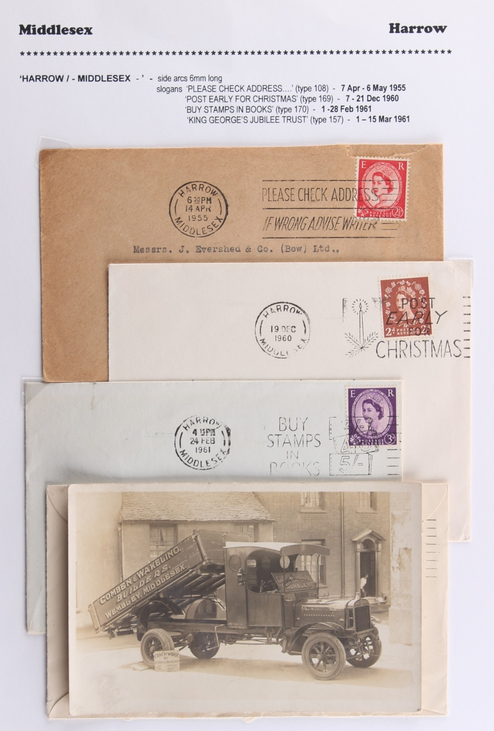 The Basil Lewis (1927-2019) collection of stamps - Great Britain: A collection of Middlesex in three