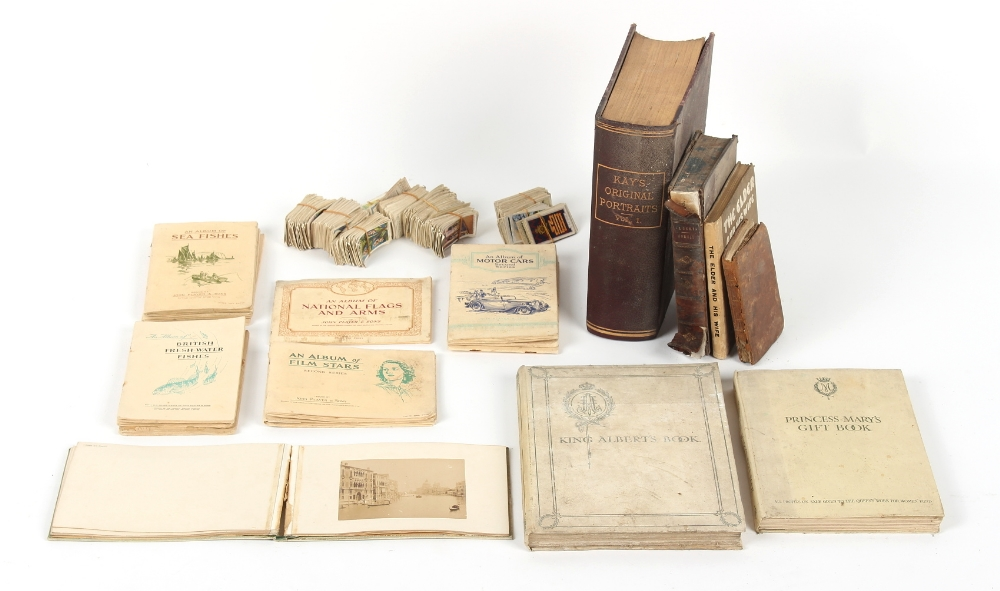 Property of a deceased estate - a quantity of assorted books & cigarette cards, the books